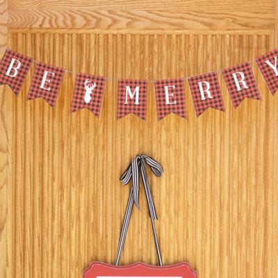 Be Merry Buffalo Check Banner