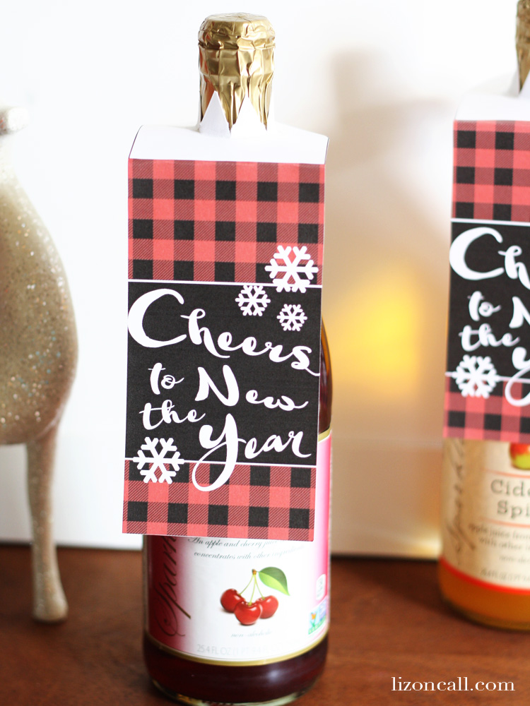 Printable bottle gift tag liz on call for Good hostess gifts for a christmas party