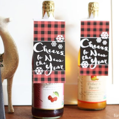 Printable Bottle Gift Tag