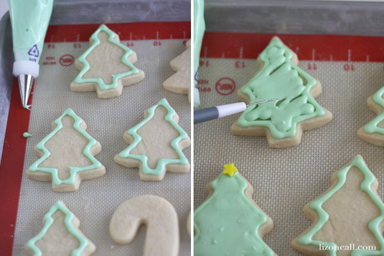Christmas sugar cookie recipe. This recipe never fails me. Tips for decorating with royal icing. @ lizoncall.com