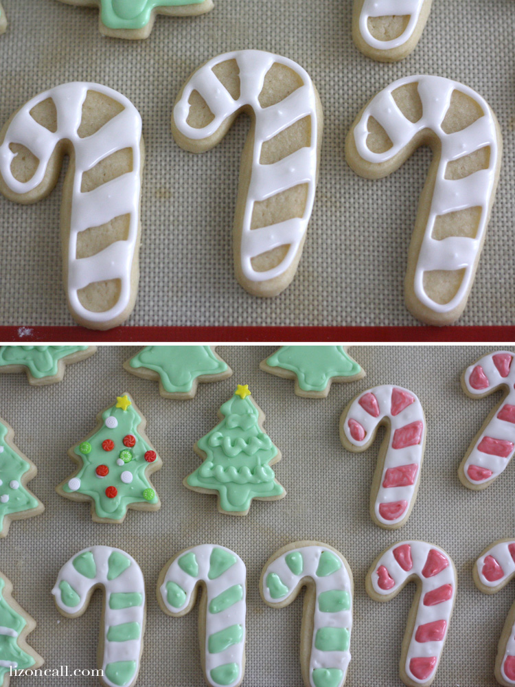 Christmas sugar cookie recipe. This recipe never fails me. plus tips for decorating Christmas cookies with royal icing. @ lizoncall.com