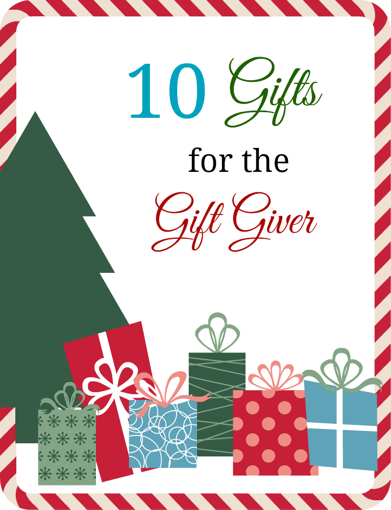 10 gift ideas for the gift giver in your life. If you know someone that loves giving gifts, here is a list of ideas of things they could use.