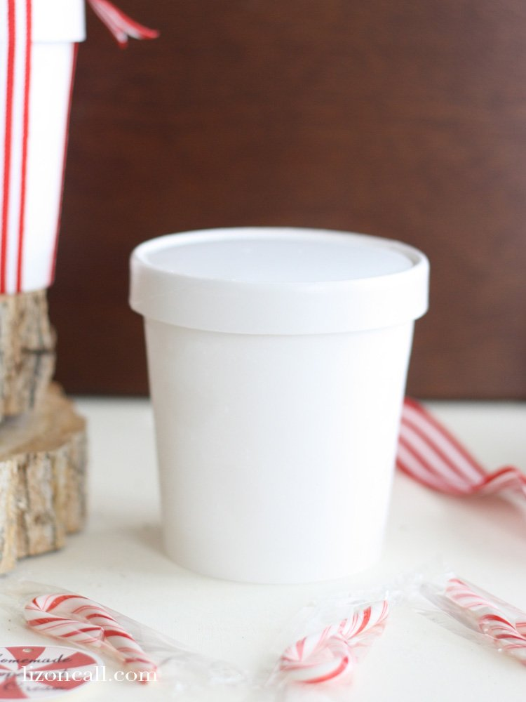 Homemade Peppermint Ice Cream makes a fun gift for neighbors and friends this holiday season. Free printable tags.