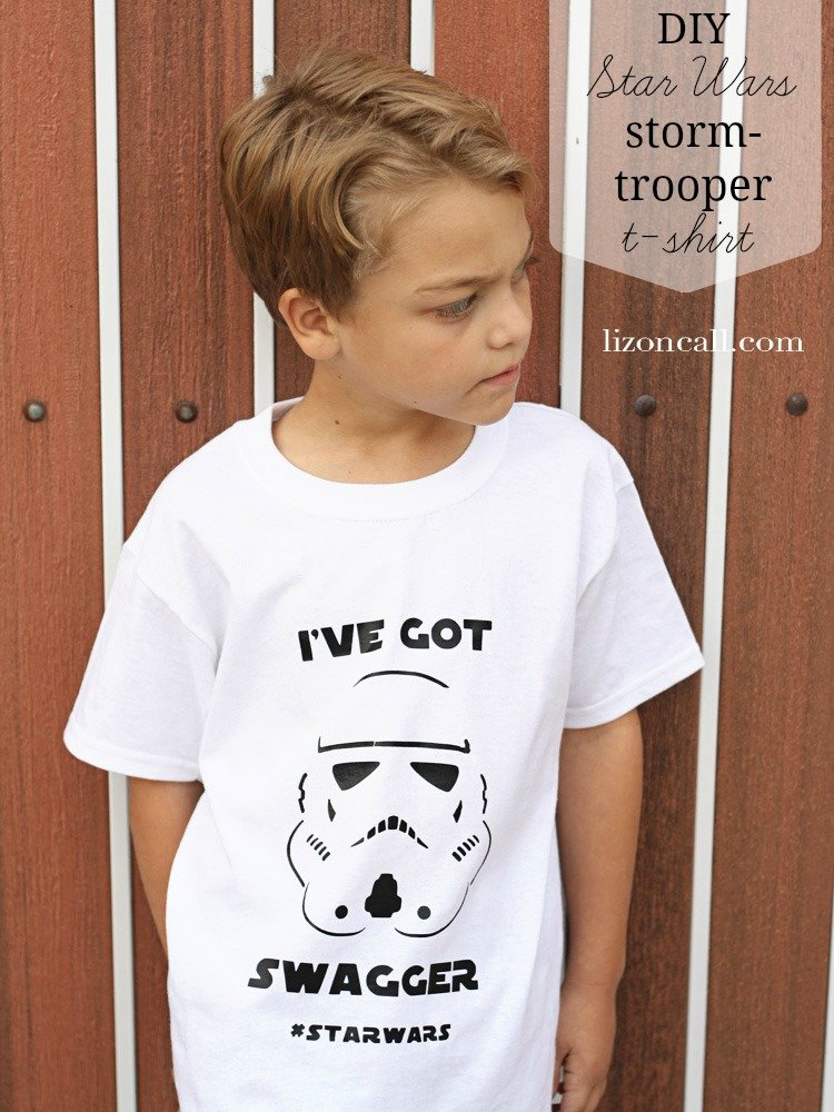 Star Wars Storm Trooper T-shirt free cut file and tutorial how to. Plus 14 more Star Wars inspired projects.
