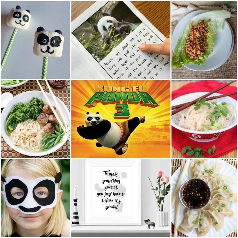 Kung Fu Panda inspired recipes and crafts
