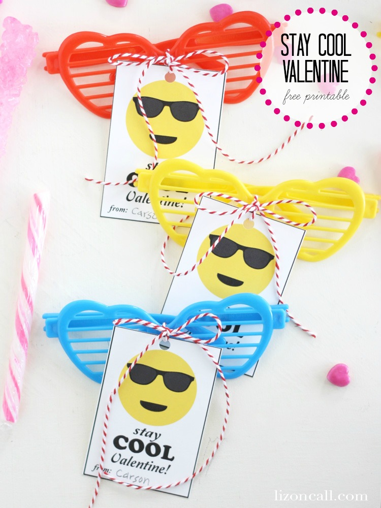 Stay cool free printable valentine for kids