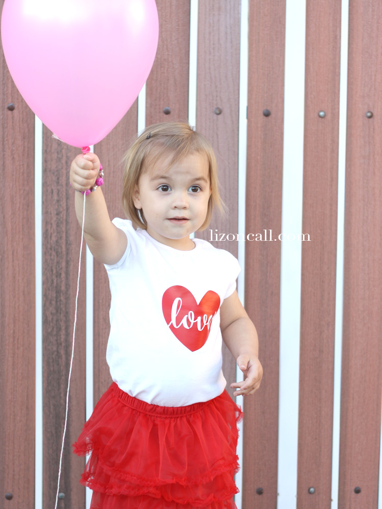Easy heat transfer vinyl Valentine T-Shirt - free cut file