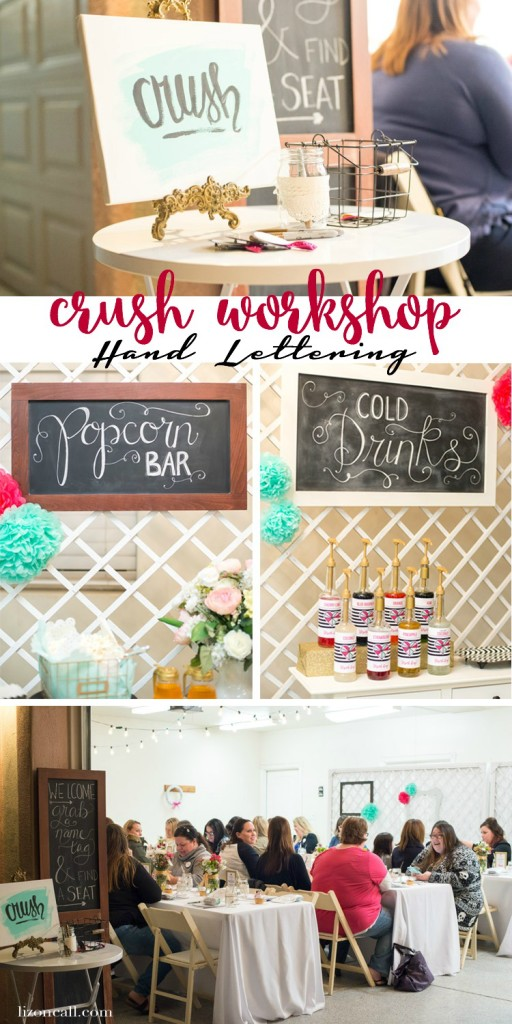 Crush Workshop - hand lettering workshop in Phoenix area. Get all the details on the first Crush Workshop.