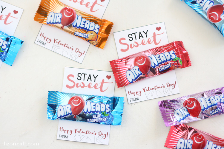 Use up all that extra candy from the holidays to make fun classroom valentines with this free printable valentine card.