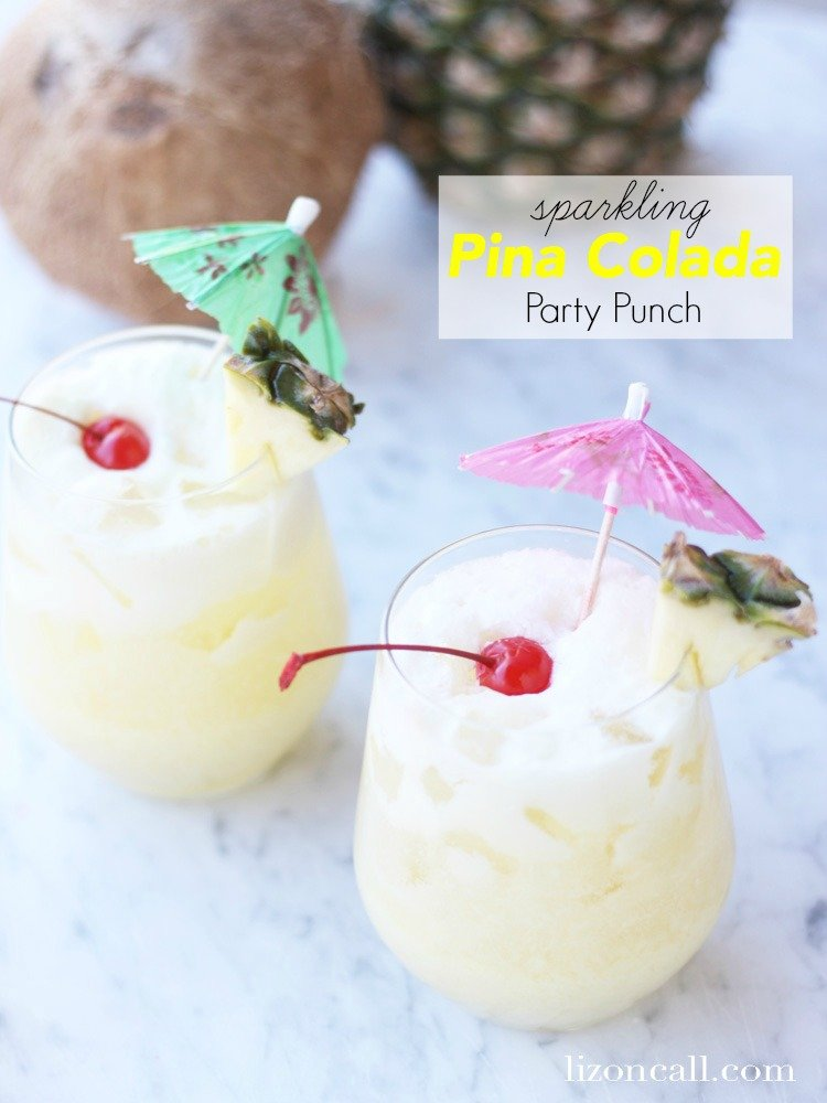 titled image (and shown): Sparkling Pina Colada Party Punch