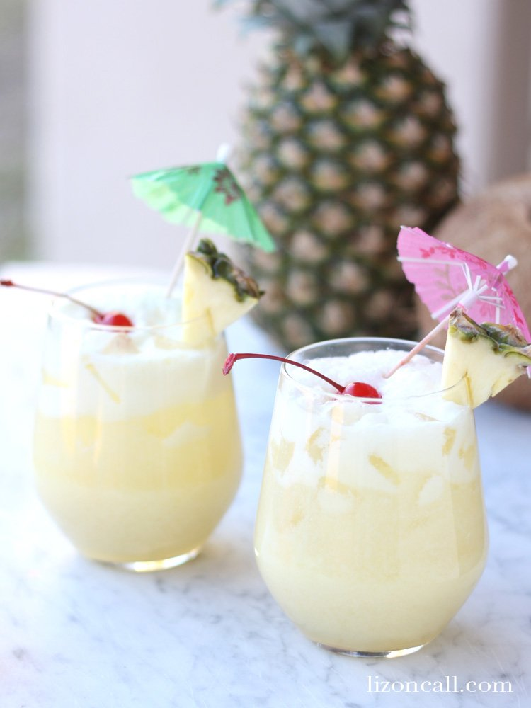 non-alcoholic punch drinks that look like pina coladas