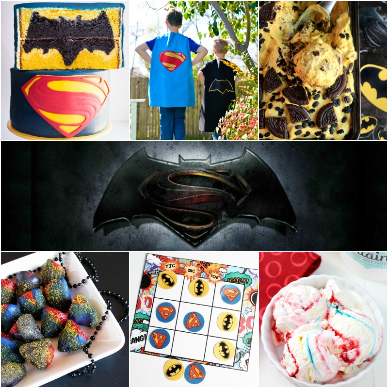 Batman versus Superman inspired recipes and crafts