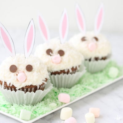 Carrot Cake Easter Bunny Cupcakes with Free Printable Ears