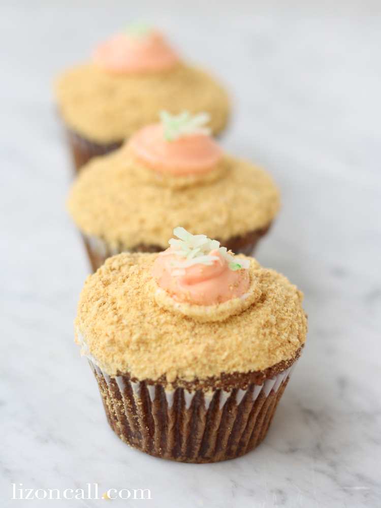 No Easter celebration would be complete with out these carrot cupcakes. Especially if kids are involved.