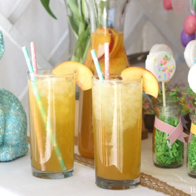 Peach Bellini Party Punch Mocktail