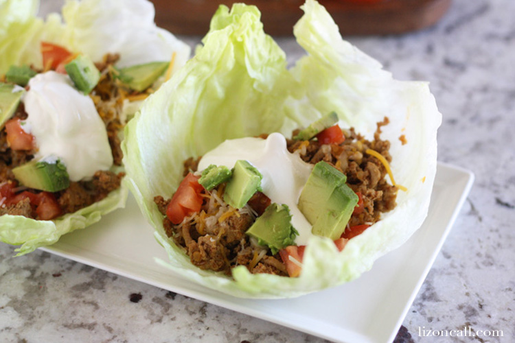 These Turkey Taco lettuce wraps a healthier way to eat your favorite ...