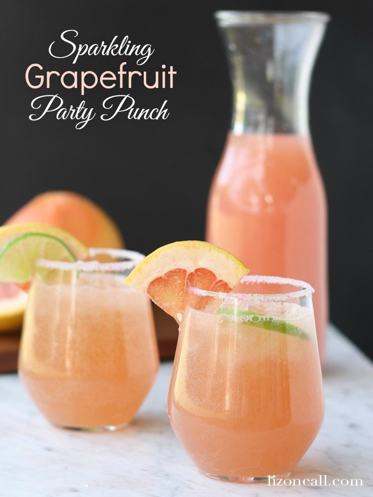 sparkling grapefruit party punch mother 39 s day brunch