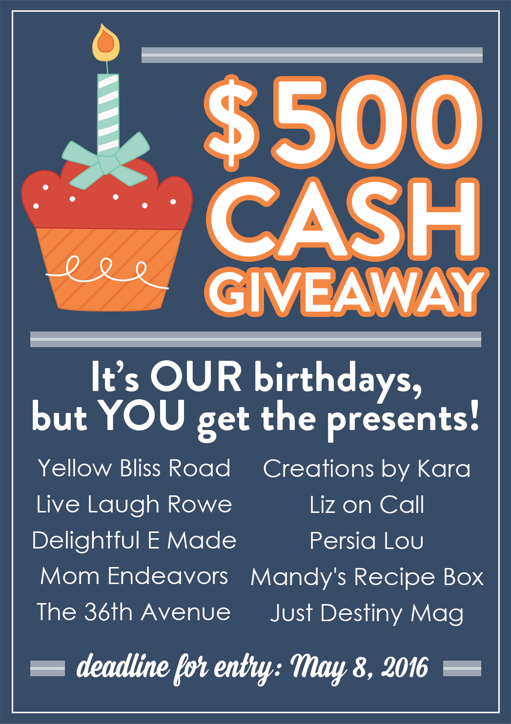 May babies birthday cash giveaway