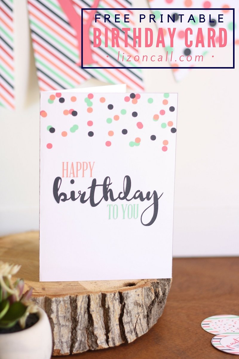 happy birthday card printable free
