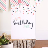 Free Printable Birthday Card and A Giveaway