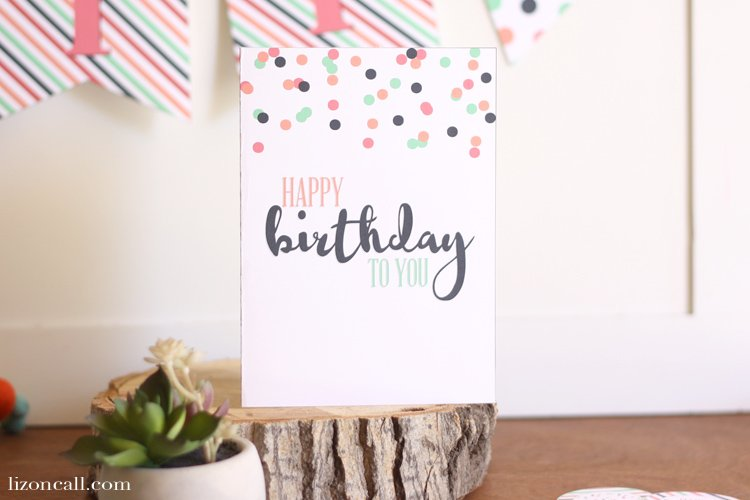 Wish your friend or family member a happy birthday with this free printable birthday card.