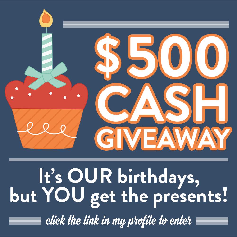May babies birthday cash giveaway