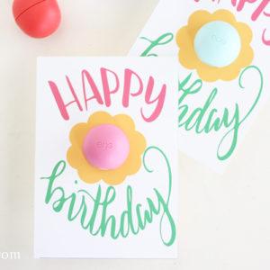 Free Printable EOS Happy Birthday Gift Card
