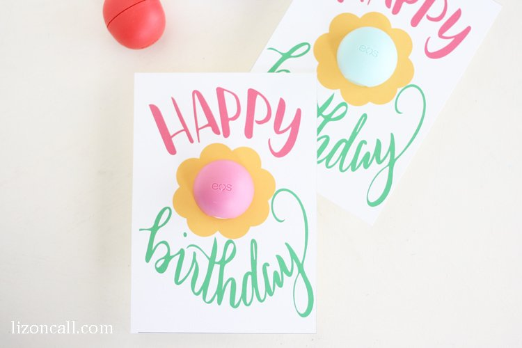 Free Printable EOS Happy Birthday Gift Card Liz on Call – Birthday Card Gift