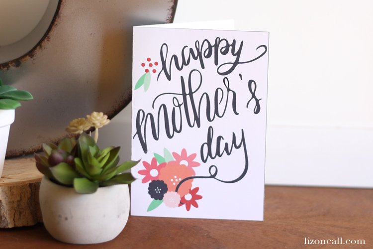 Tell mom how much you love and appreciate her on this free printable hand lettered Mother's Day card.