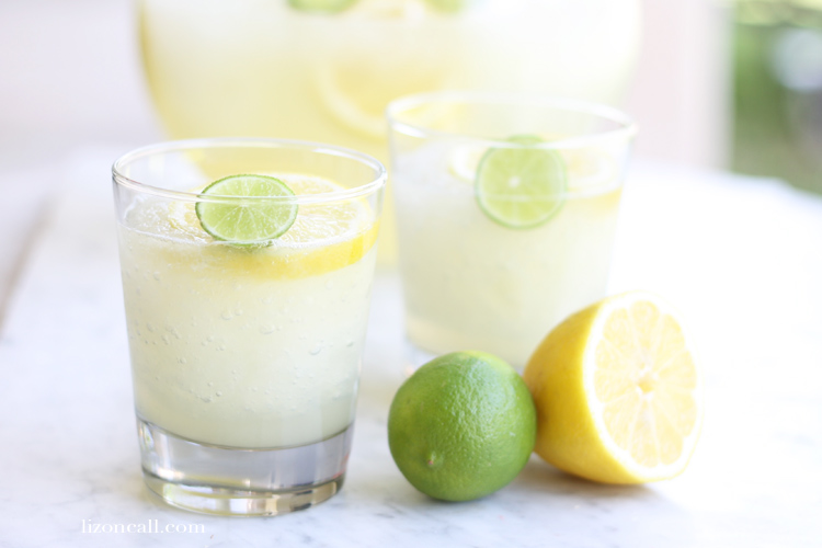 The perfect drink for summer parties - lemon lime slush punch