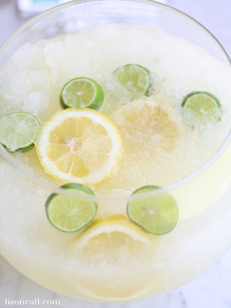 The perfect drink for summer parties - lemon lime slush punch (with a fun Disney twist)