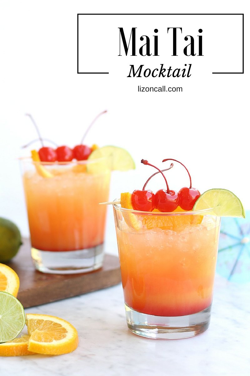 Mai tai mocktail party punch easy mocktail recipe liz for Drink recipes without alcohol