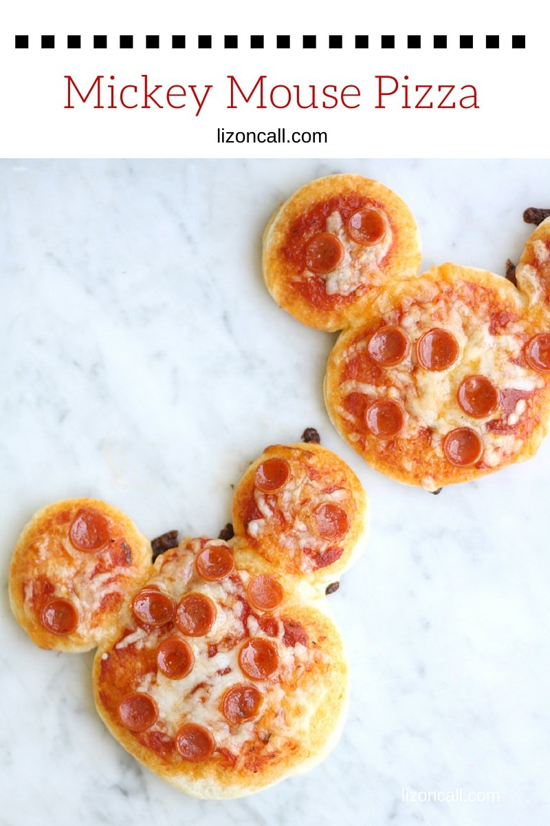 Make lunchtime extra fun with these mini Mickey Mouse pizzas