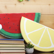 DIY Painted Wood Fruit Signs