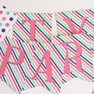 Free Printable Party Banner Tags Toppers