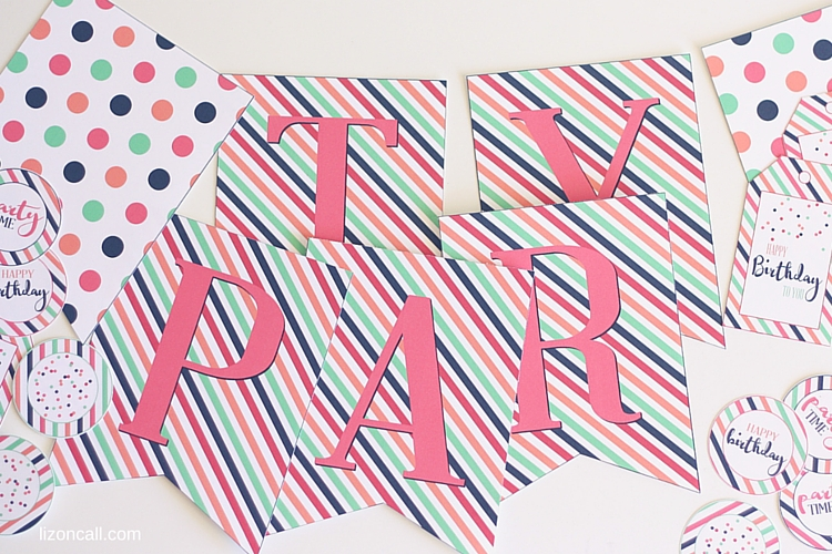 Free Printable Party Banner Tags Toppers - Liz on Call