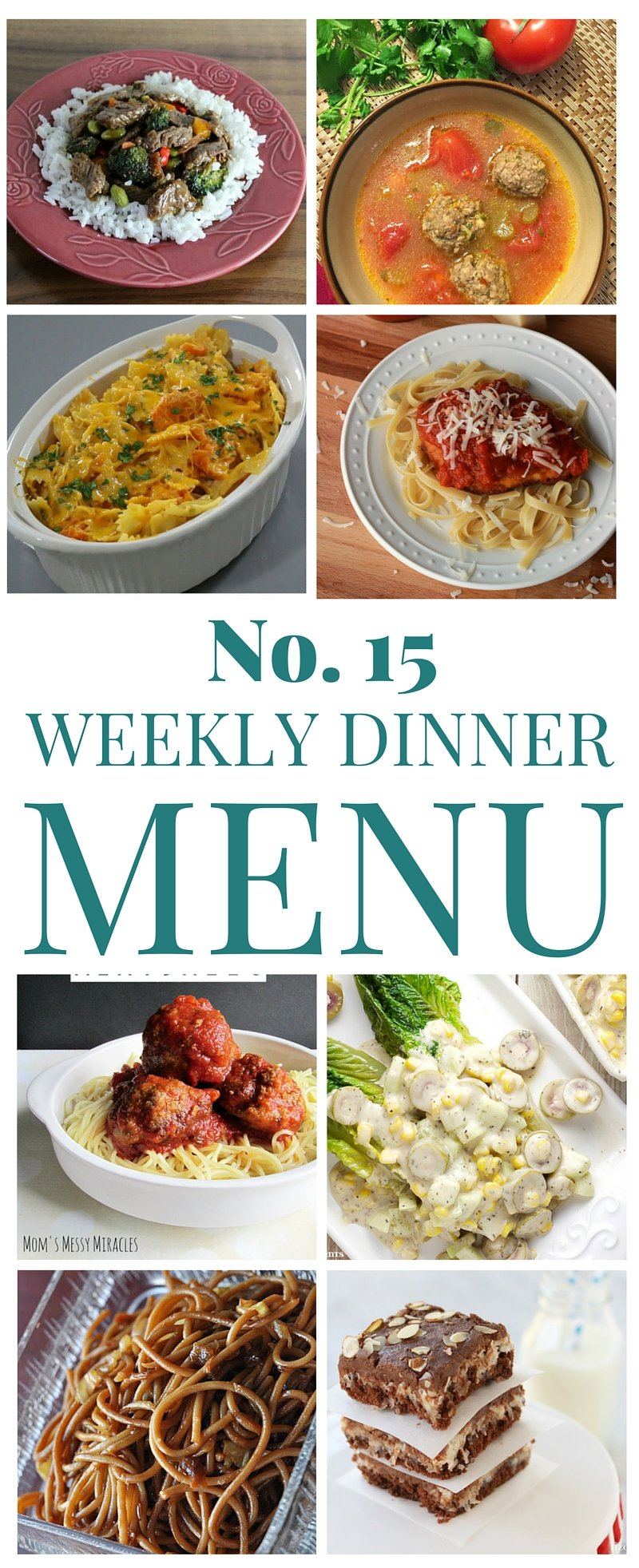 Weekly Menu Dinner Plan! Check out these tasty meal ideas!