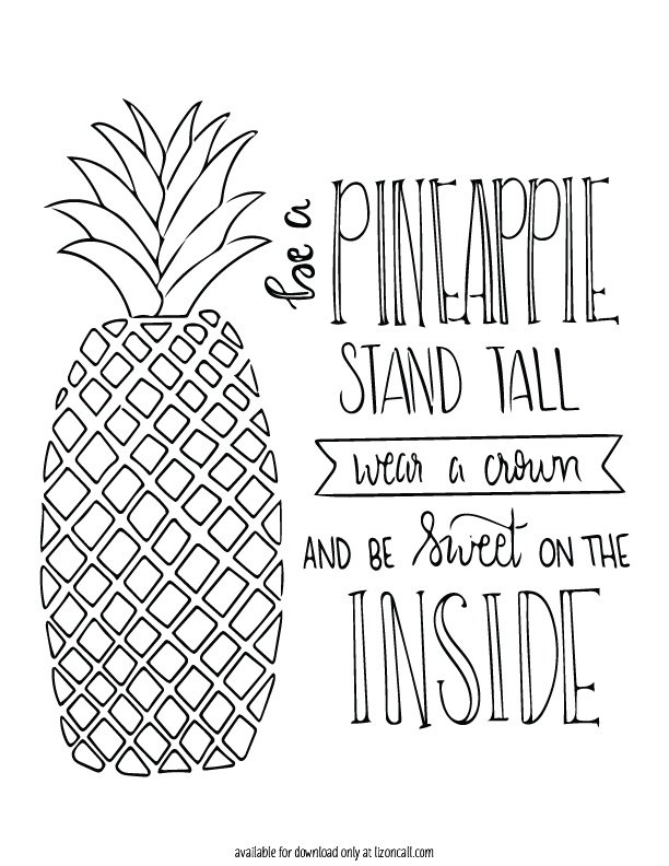 Free Pineapple Printable Liz on Call