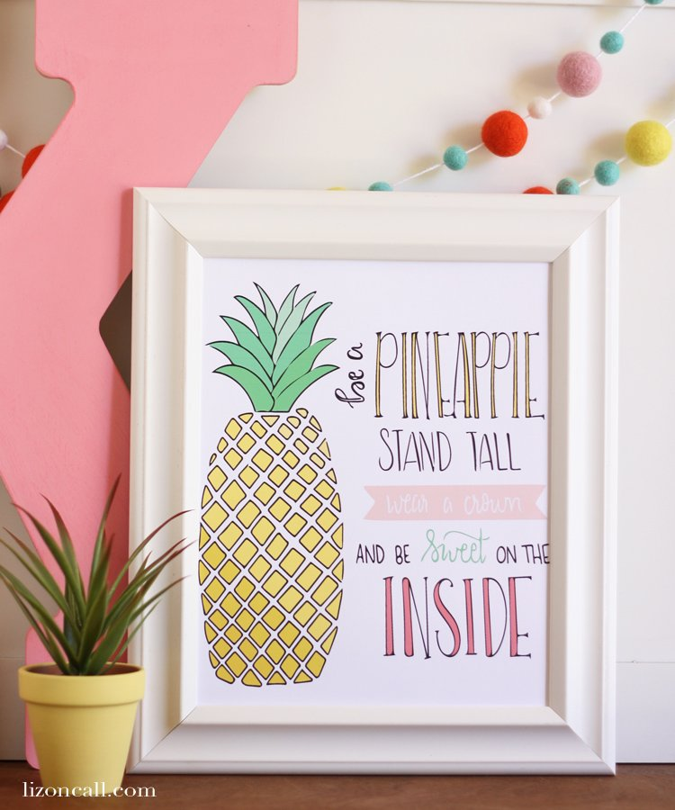 Free printable summer gift tags printable crush be a pineapple print 2 negle Gallery