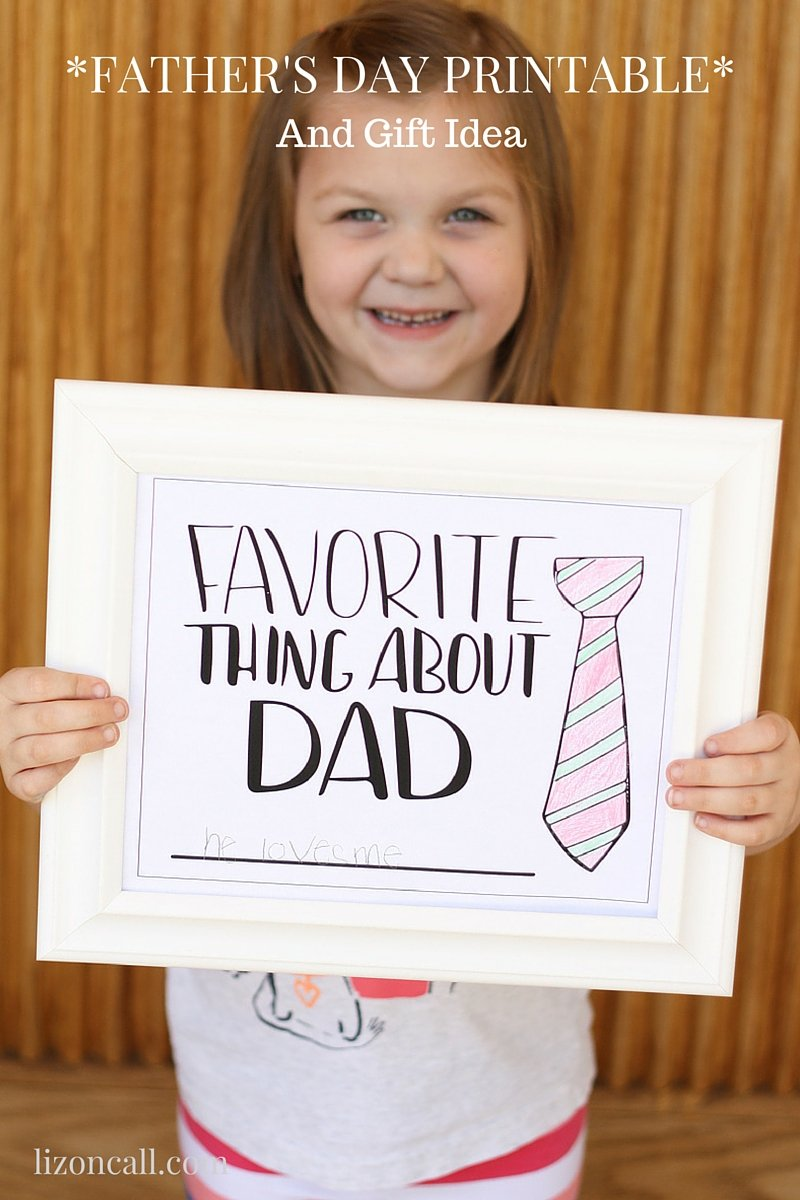 Tell dad your favorite thing about him this father's day. free printable