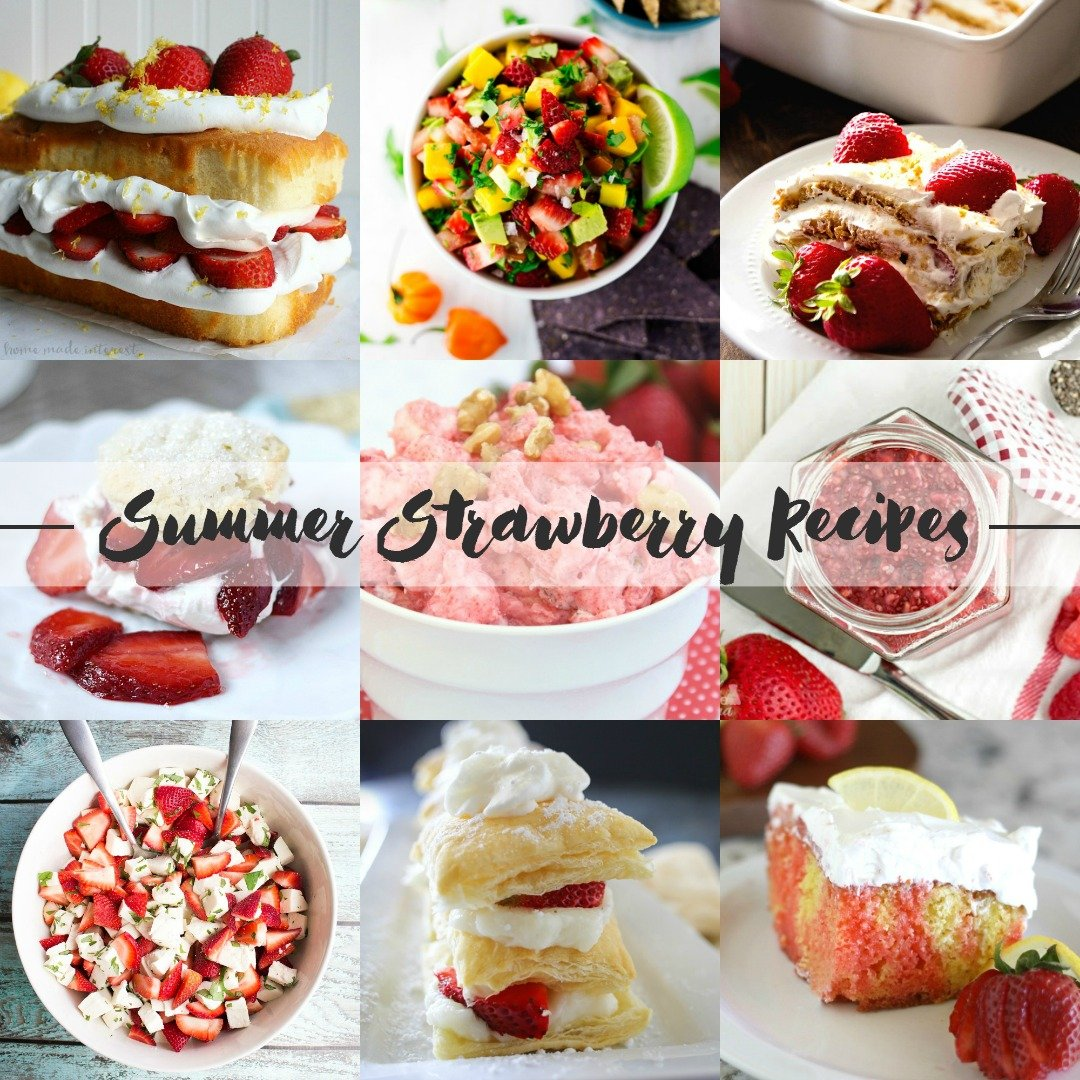 Delicious summer strawberry recipes