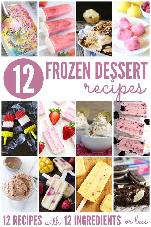 12 Frozen Dessert Recipes from Liz on Call