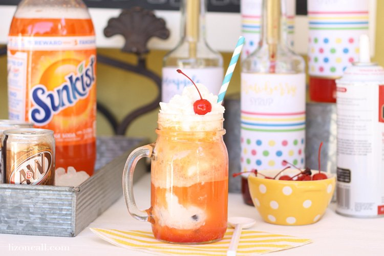 Keep the fun of summer going with this float into summer ice cream float bar. The kids will love it! It's what summer is all about.