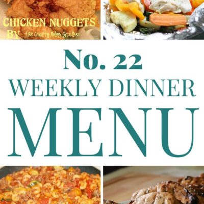 Weekly Menu Plan #22