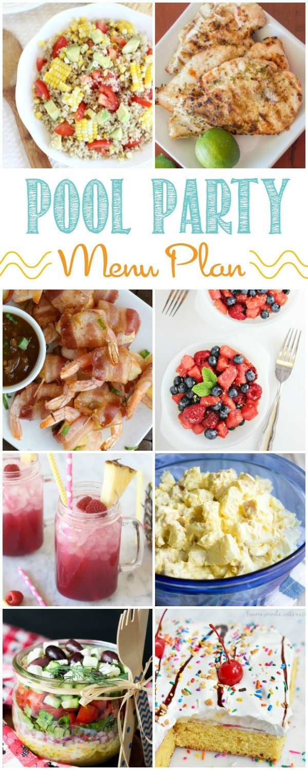 Great ideas for food to serve at your next pool party. Check out this pool party menu plan.