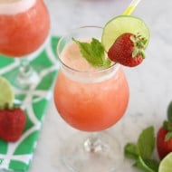 Strawberry Mint Agua Fresca Party Punch