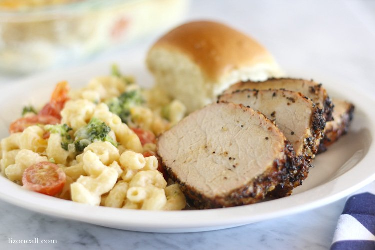Your family will think they are living with a professional chef when you whip up this grilled pork tenderloin with veggie mac & cheese for dinner.