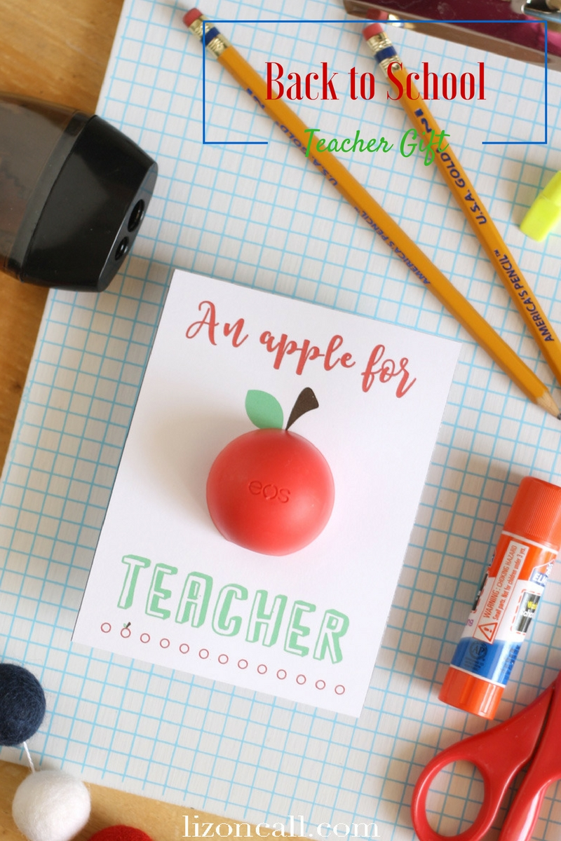 Give teachers a little something fun for the first day of school with this free printable back to school EOS teacher gift idea.