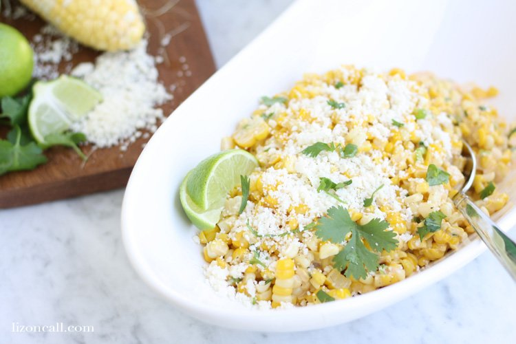 Make this mexican street corn salad for your next get together. It is the perfect side dish for any outdoor party menu.