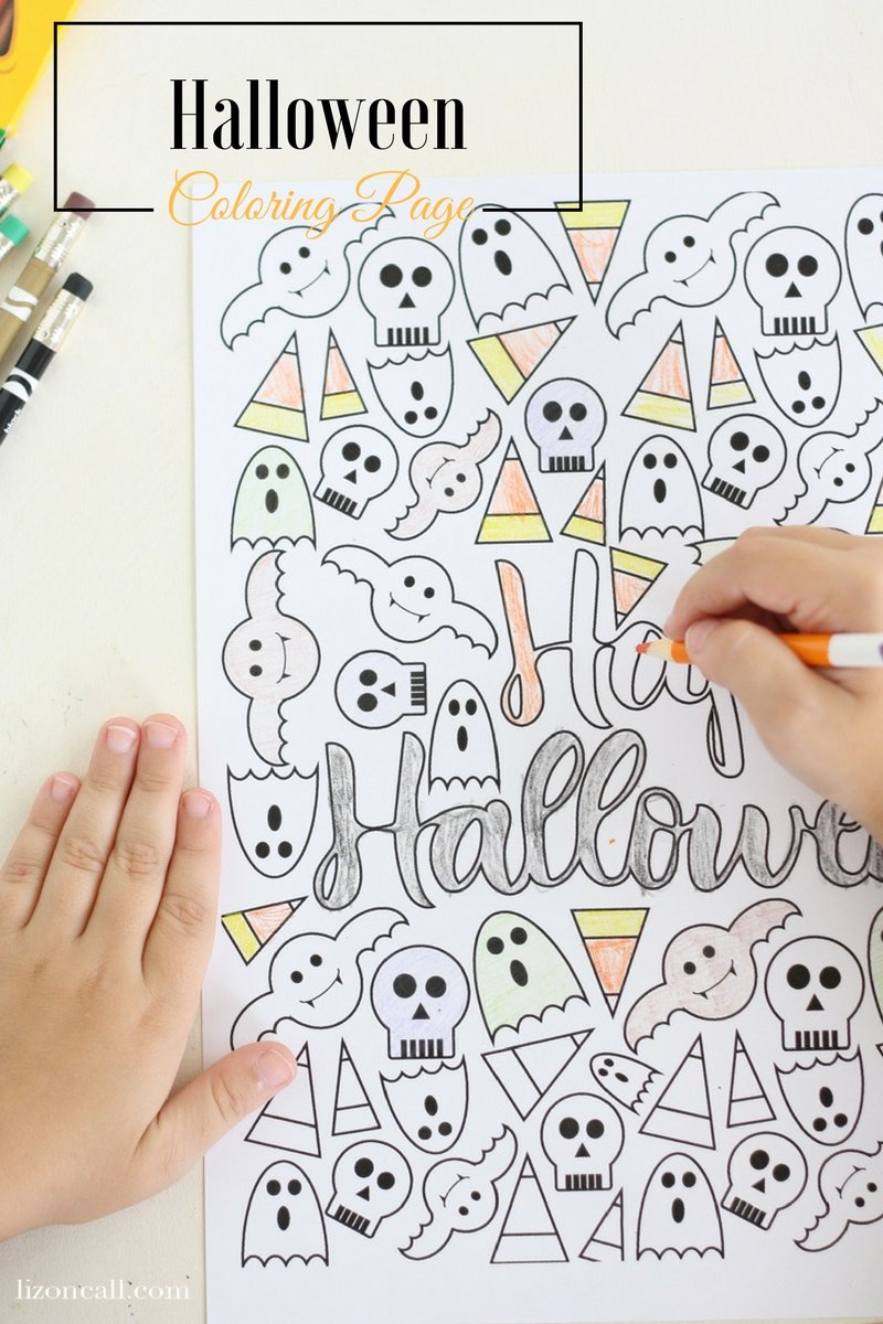 Halloween Coloring Page Liz on Call